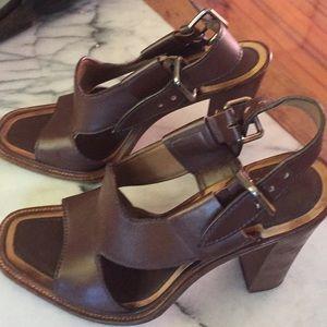 Prada leather sandal heels